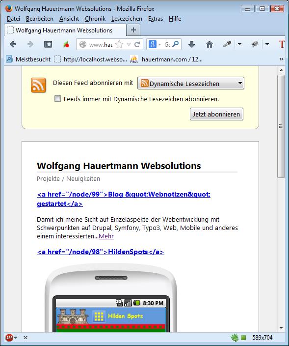 Drupal Views/RSS Html-Sonderzeichen Problem | Code Kiste